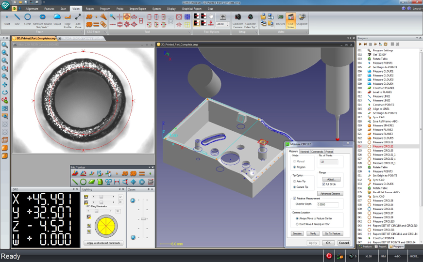 CMM-Manager DCC for Vision Systems